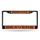 Oregon State Beavers BLACK LASER Chrome Frame