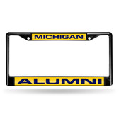 Michigan Wolverines ALUMNI BLACK LASER FRAME