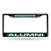 Michigan State Spartans ALUMNI BLACK LASER FRAME