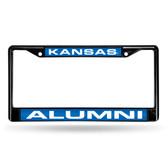 Kansas Jayhawks ALUMNI BLACK LASER FRAME