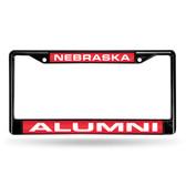 Nebraska Cornhuskers ALUMNI BLACK LASER FRAME