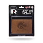 Boise State Broncos Leather Trifold Wallet