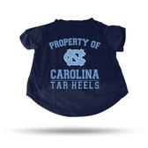 North Carolina Tar Heels NAVY PET T-SHIRT - LARGE