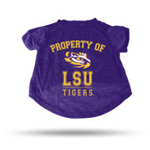 LSU Tigers PURPLE PET T-SHIRT - LARGE