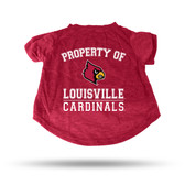 Louisville Cardinals RED PET T-SHIRT - LARGE