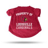 Louisville Cardinals RED PET T-SHIRT - SMALL