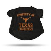 Texas Longhorns BLACK PET T-SHIRT - LARGE