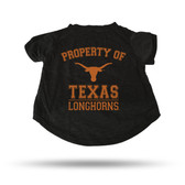 Texas Longhorns BLACK PET T-SHIRT - XL