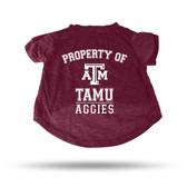 Texas A&M Aggies MAROON PET T-SHIRT - LARGE