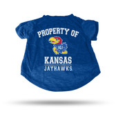 Kansas Jayhawks ROYAL PET T-SHIRT - LARGE