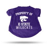 Kansas State Wildcats PURPLE PET T-SHIRT - SMALL
