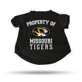 Missouri Tigers BLACK PET T-SHIRT - XL