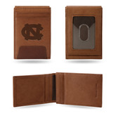 North Carolina Tar Heels Premium Leather Front Pocket Wallet