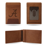 Alabama Crimson Tide Premium Leather Front Pocket Wallet