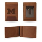 Michigan Wolverines Premium Leather Front Pocket Wallet