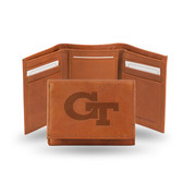 Georgia Tech Yellow Jackets Embossed Leather Trifold Wallet