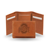Ohio State Buckeyes Embossed Leather Trifold Wallet