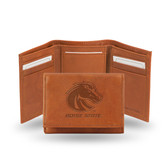 Boise State Broncos Embossed Leather Trifold Wallet