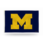 "Michigan Wolverines Banner Flag - YELLOW ""M"" ON NAVY BACKGROUND"