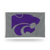 Kansas State Wildcats Banner Flag SILVER BKG
