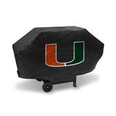 Miami Hurricanes DELUXE GRILL COVER (Black)
