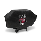 Wisconsin Badgers  DELUXE GRILL COVER (Black)