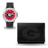 Georgia Bulldogs Black Watch and Wallet