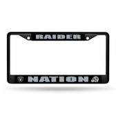 Oakland Raiders NATION BLACK METAL FRAME