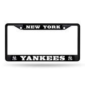 New York Yankees BLACK Chrome Frame