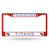 Tennessee Titans COLORED Chrome Frame SECONDARY RED