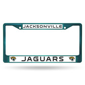 Jacksonville Jaguars AQUA COLORED Chrome Frame