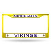 Minnesota Vikings COLORED Chrome Frame SECONDARY YELLOW