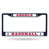 Los Angeles Angels COLORED Chrome Frame SECONDARY NAVY
