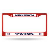 Minnesota Twins RED COLORED Chrome Frame