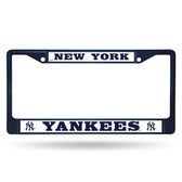 New York Yankees NAVY COLORED Chrome Frame