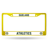 Oakland Athletics YELLOW COLORED Chrome Frame