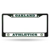 Oakland Athletics COLORED Chrome Frame SECONDARY DARK GREEN