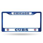 Chicago Cubs BLUE COLORED Chrome Frame