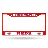 Cincinnati Reds RED COLORED Chrome Frame