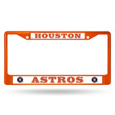 Houston Astros ORANGE COLORED Chrome Frame