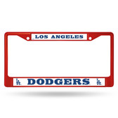 Los Angeles Dodgers COLORED Chrome Frame SECONDARY RED