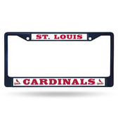 St. Louis Cardinals COLORED Chrome Frame SECONDARY NAVY