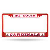 St. Louis Cardinals RED COLORED Chrome Frame