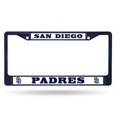 San Diego Padres NAVY COLORED Chrome Frame