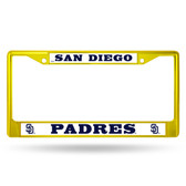 San Diego Padres COLORED Chrome Frame SECONDARY YELLOW
