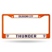 Oklahoma City Thunder ORANGE COLORED Chrome Frame