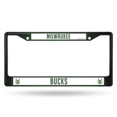 Milwaukee Bucks GREEN COLORED Chrome Frame