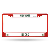 Milwaukee Bucks COLORED Chrome Frame SECONDARY RED