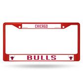 Chicago Bulls RED COLORED Chrome Frame
