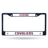 Cleveland Cavaliers COLORED Chrome Frame SECONDARY NAVY
